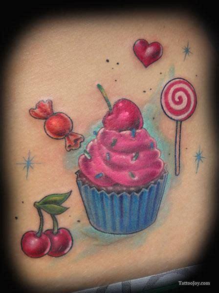 cupcake tattoos cupcake cherries and lollipop