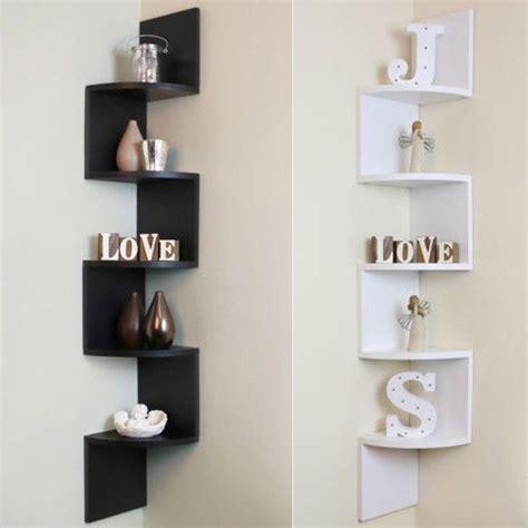 5 tier corner shelf floating wall shelves storage display