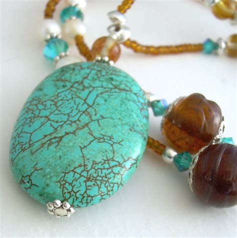glass stones for jewelry turquoise necklace glass green jewelry