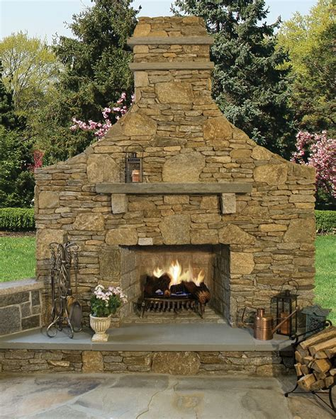 new thinstone outdoor fireplace