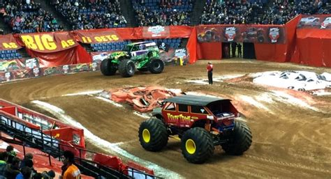 monster truck show hamilton a boy his trucks a maple leaf monsterjam adventure