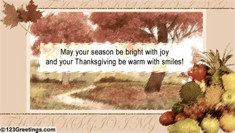 Thanksgiving Season Bright With Joy  Free Business