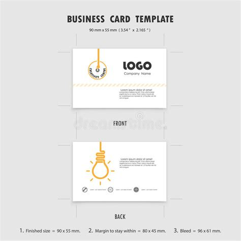 name cards template size abstract creative business cards design template size