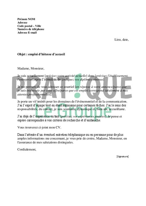 Exemple De Lettre De Motivation Hotesse Lettre De Motivation Pour Hotesse Animatrice Ccmr