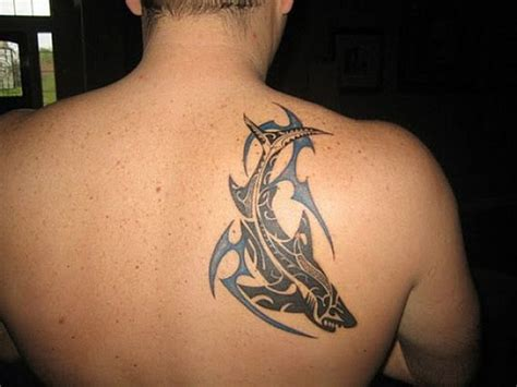 back shoulder tribal tattoo for men tattoos for men