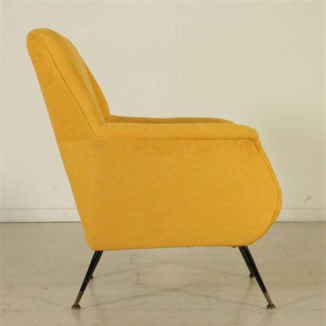 foam armchair armchair foam fabric metal brass vintage manufactured in