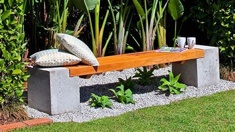 how to make a concrete bench seat how to make a concrete and timber bench seating