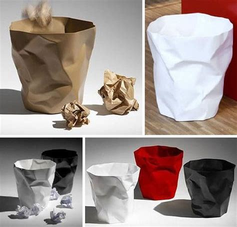 How To Make Paper Trash Can - junk culture 12 terrific trash can garbage bin designs
