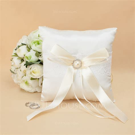 Lovely Ring lovely ring pillow in satin with rhinestones 103018294