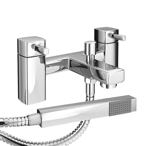 Mixer Neo neo minimalist bath shower mixer with shower kit chrome