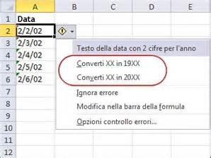 date testo convertire in date le date memorizzate come testo excel