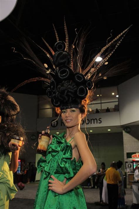 hair model at bronner brothers hair show august 18 2013