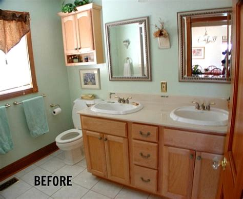 basic bathroom remodel quot farmhousing up quot a basic bathroom hooked on houses