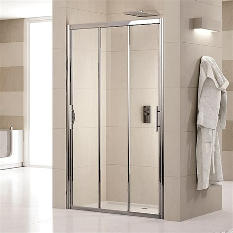 three panel shower door three panel sliding shower door jacobhursh