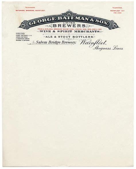 vintage business letterhead george bateman brewers what a cool looking header