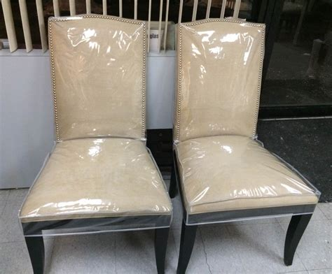 dining chair protectors plastic and fabric slipcovers new way home decor