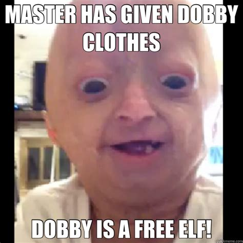 Elf Memes - master has given dobby clothes dobby is a free elf