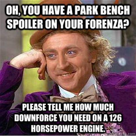 park bench spoiler condescending wonka memes quickmeme