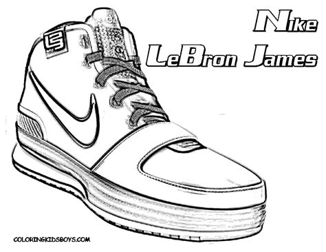 coloring pictures of basketball shoes free coloring pages of drawing of shoes