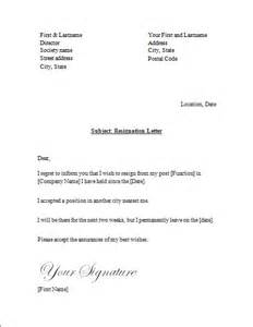 three free letters of resignation with departure notice