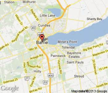 map of barrie ontario canada barrie hotels barrie hotel motel travel guide canada