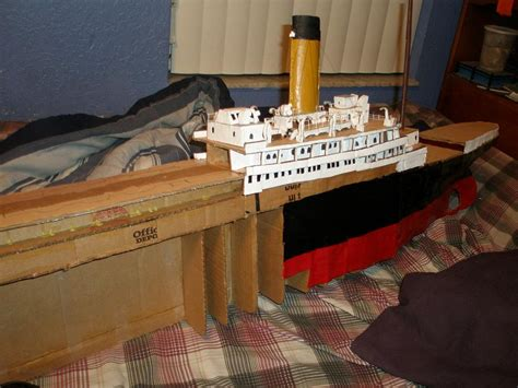 How To Make A Titanic Model Out Of Paper - cardboard titanic 5 by genbe89 on deviantart