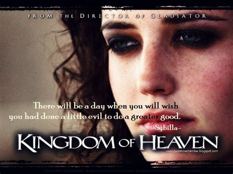 movie quotes kingdom of heaven one for the world and one which she wears in private