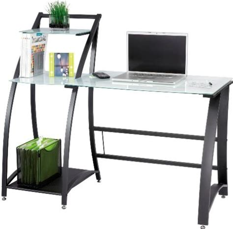 Tempered Glass Computer Desk Safco 1936tg Xpressions Computer Workstation Computer Desk Desk Type Glass Top Material