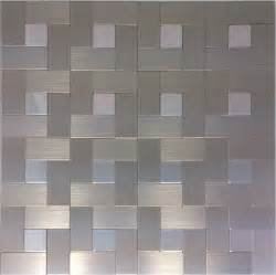 brushed silver metal mosaic wall tiles backsplash almt026