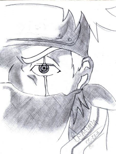 imagenes de kakashi a lapiz kakashi dibujo a lapiz imagui