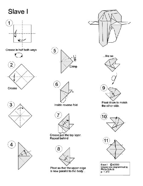 10 diagrams to create your own quot wars quot origami