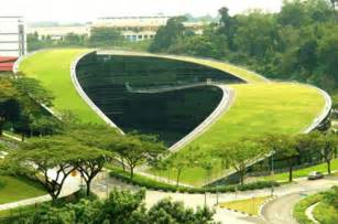 Landscape Structures Singapore Green Roof Of Nanyang Technological In