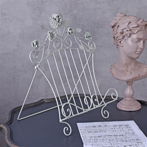 cook book stand metal recipe holder vintage shabby chic