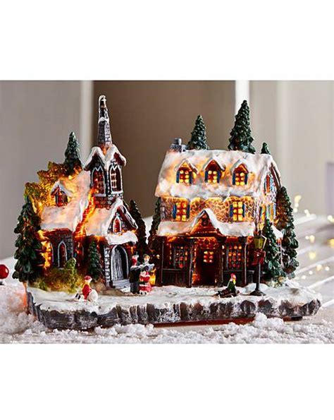 light up christmas village scene j d williams