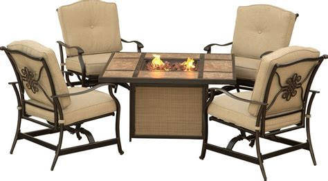 patio pit table sets hanover traditions 5 outdoor pit table set
