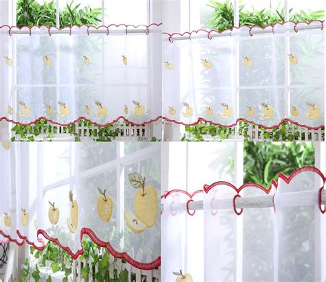 voile cafe net curtains kitchen voile cafe net curtain panel 25 new designs 12