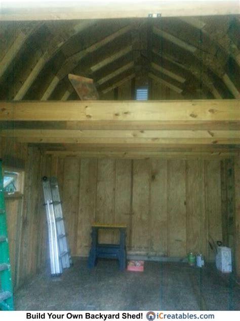 gambrel shed plans  sheds  pinterest