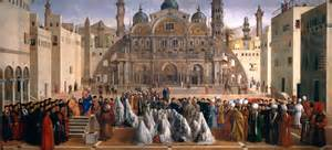 Image title saint mark preaching in a square of alexandria in egypt