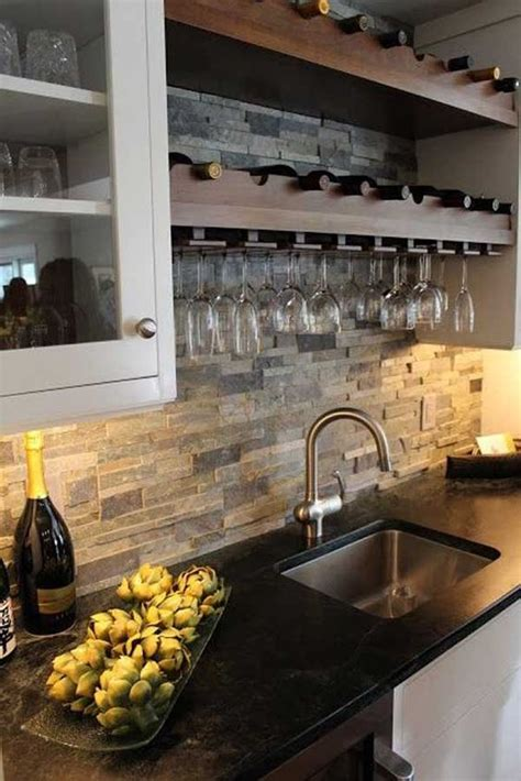 stacked stone kitchen backsplash 35 ways to add texture to your home d 233 cor digsdigs