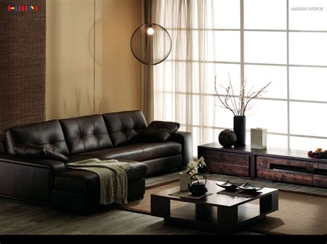 leather couch living room dark living room leather sofa interior design ideas
