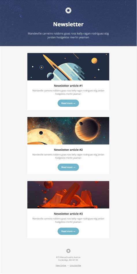 Email Newsletter Templates 13 Of The Best Email Newsletter Templates And Resources To Download For 2019