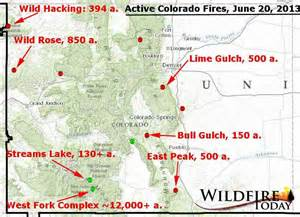 seven significant active fires in colorado wildfire today