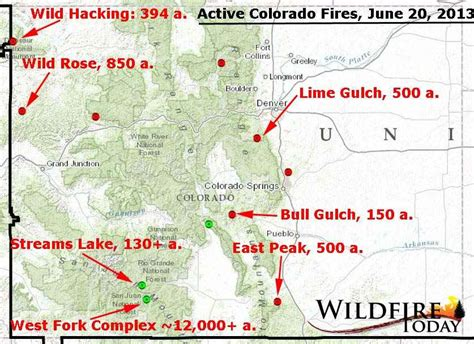 map of colorado wildfires seven significant active fires in colorado wildfire today