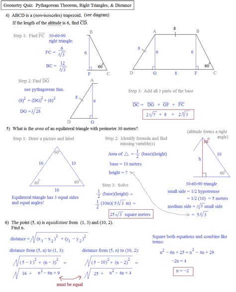 geometry tutorial questions worksheets pythagorean theorem word problems worksheets