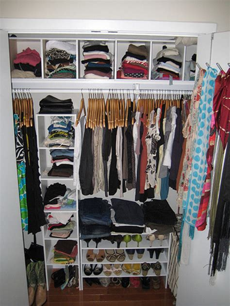 Organizing Small Closet | how to organize your closet apartment therapy