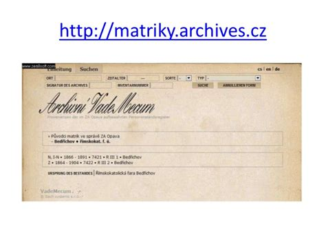 Czechoslovakia Birth Records Digitizing Of The Birth Marriage And Records In Republic
