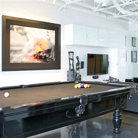delightful Room Designs For Guys #2: simple-guys-ultimate-bachelor-pad-with-pool-table-in-living-room.jpg