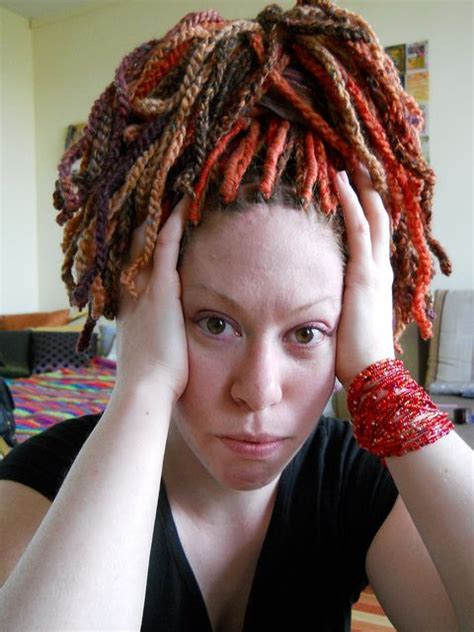 dradlock wool hairstyle red wool dreads flickr photo sharing hair beautiful