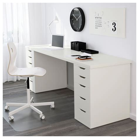 Linnmon Table Top White Legs And Spaces White Desk Sale