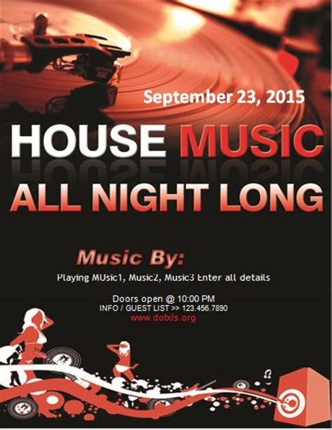 house music flyers pool and darts night party flyer template word excel templates